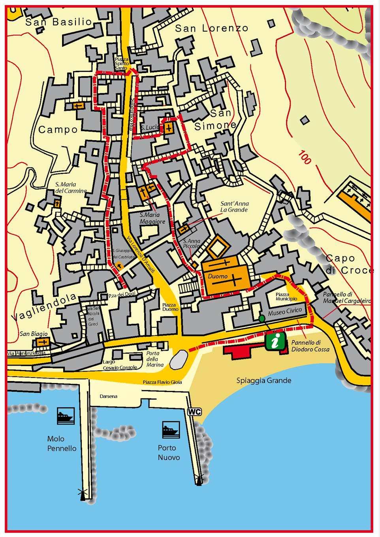 Карта Амальфи с достопримечательностями