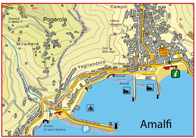 Карта Амальфи