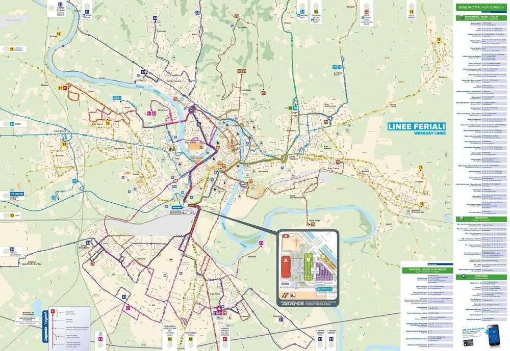 Схема общественного транспорта Флоренции
