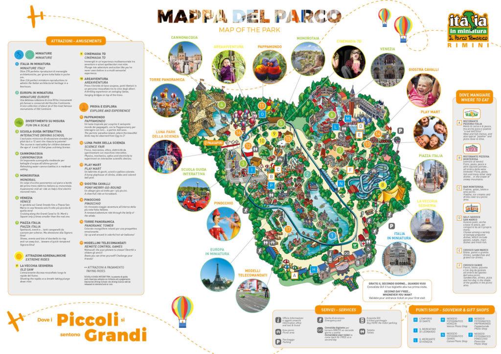 Италия в миниатюре, карта парка