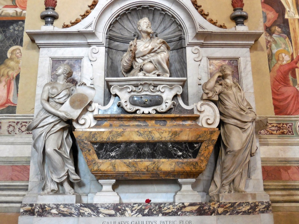Могила Галилея в Базилике Санта Кроче, Флоренция