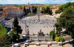 Пьяцца дель Пополо (Народная площадь) в Риме